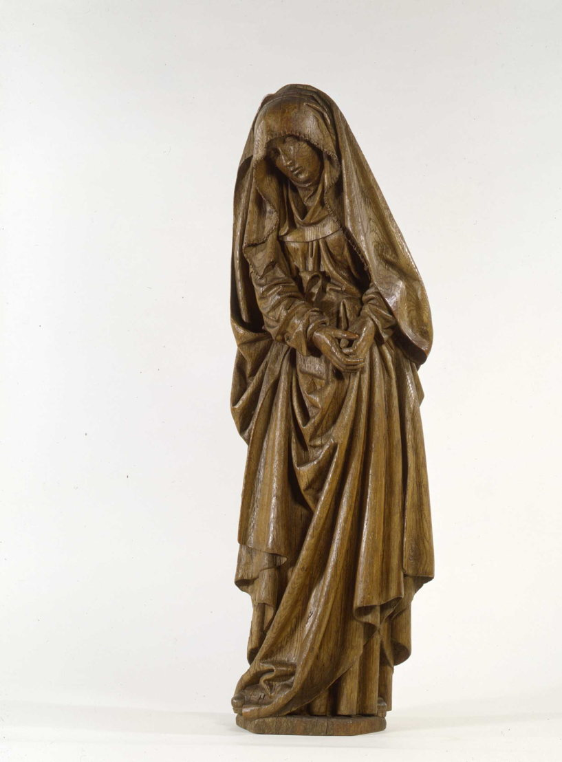 Brussels, Passchier Borman, Mourning Virgin from a Calvary, c. 1523, stripped oak<br/>Photo (c) Suermondt-Ludwig-Museum