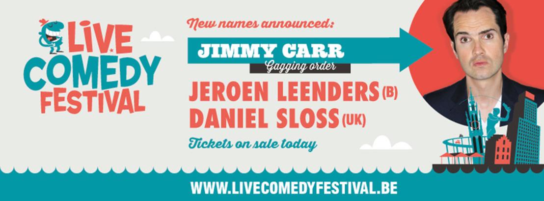 Britse Superster Jimmy Carr op het Live Comedy Festival