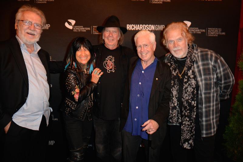 Stéphane Venne, Buffy-Sainte Marie, Neil Young, Bruce Cockburn,  Randy Bachman