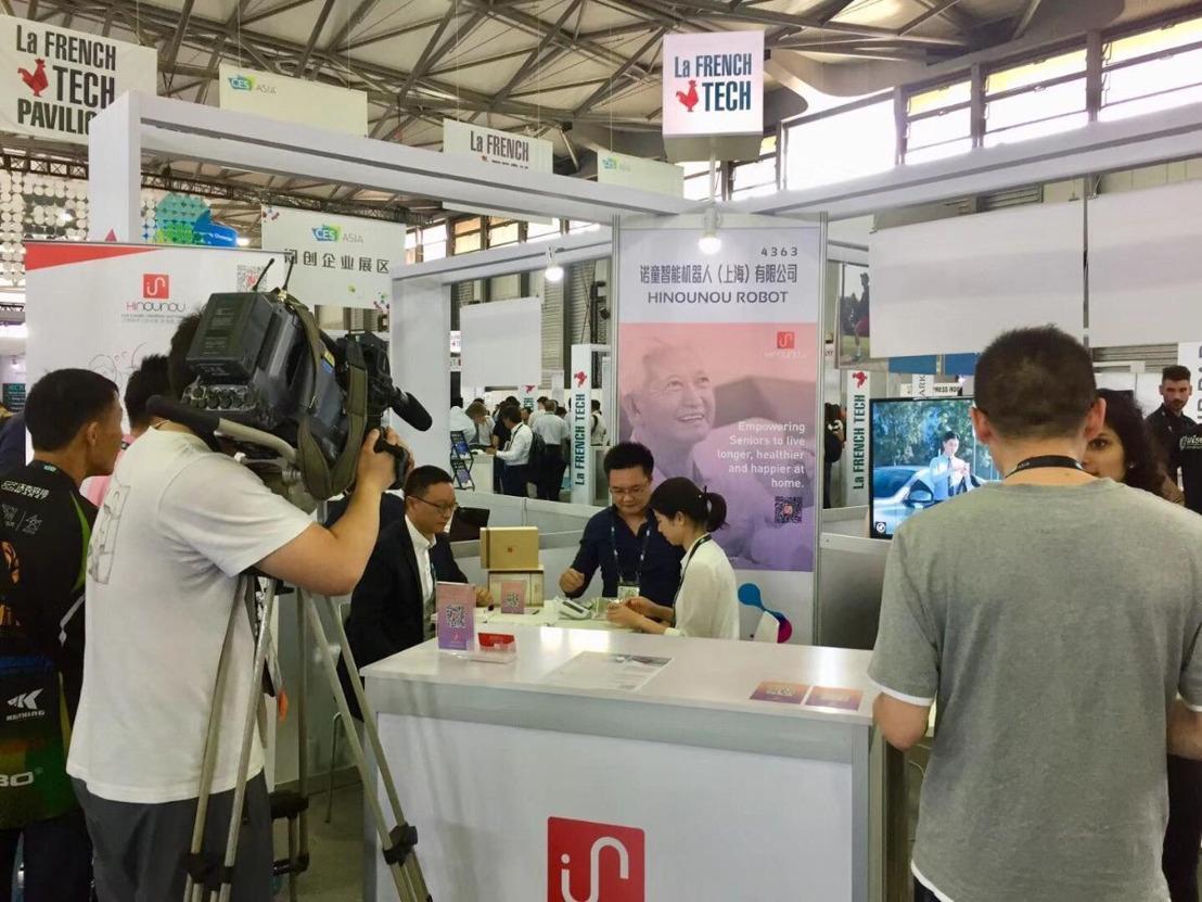 HiNounou showcases at CES Asia 2018