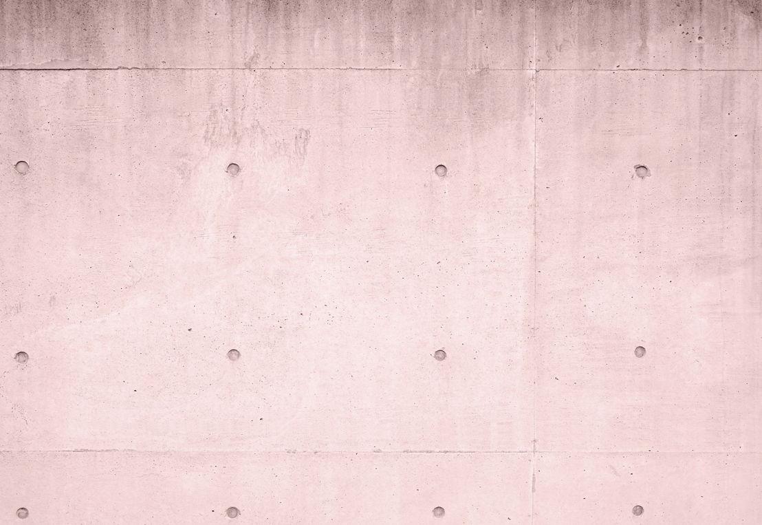 Pink Modern Concrete Block Wall Mural