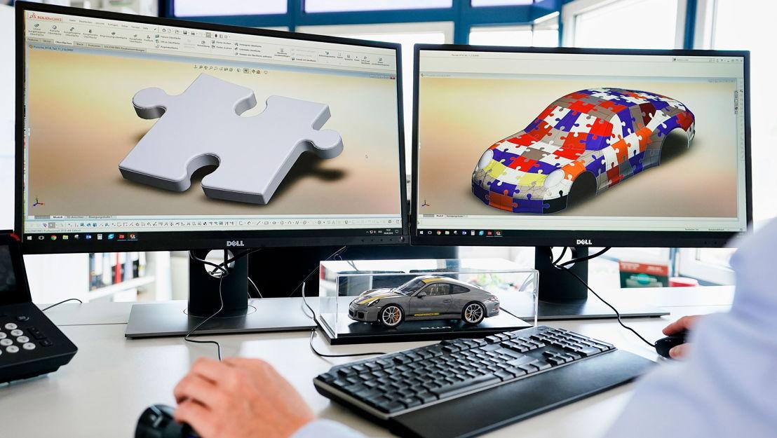 Un Porsche armado con piezas de un rompecabezas 3D - El 911 R tridimensional, fabricado por la juguetería Ravensburger, ya está a la venta