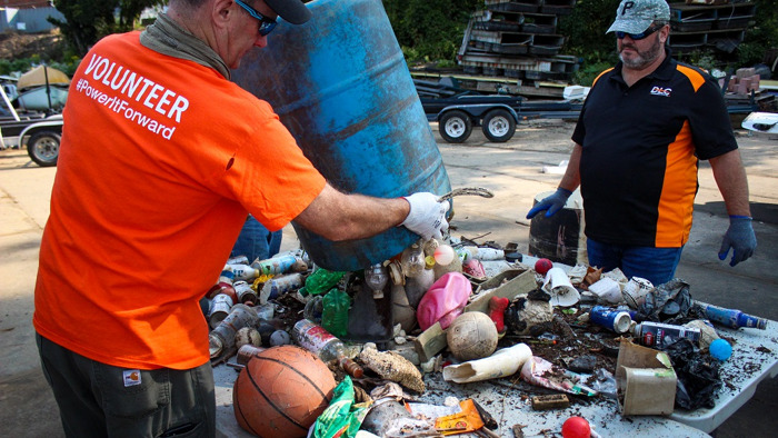 Preview: DLC Employees Volunteer in River, Trail Cleanup