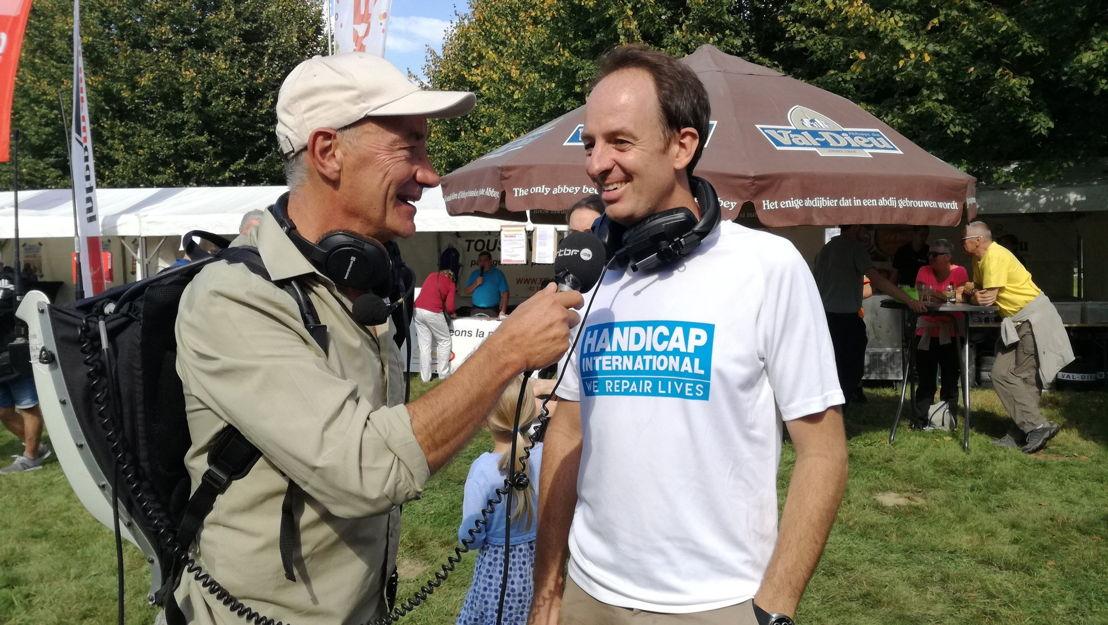 Adrien Joveneau interview Jean Van Wetter, directeur général de Handicap International.