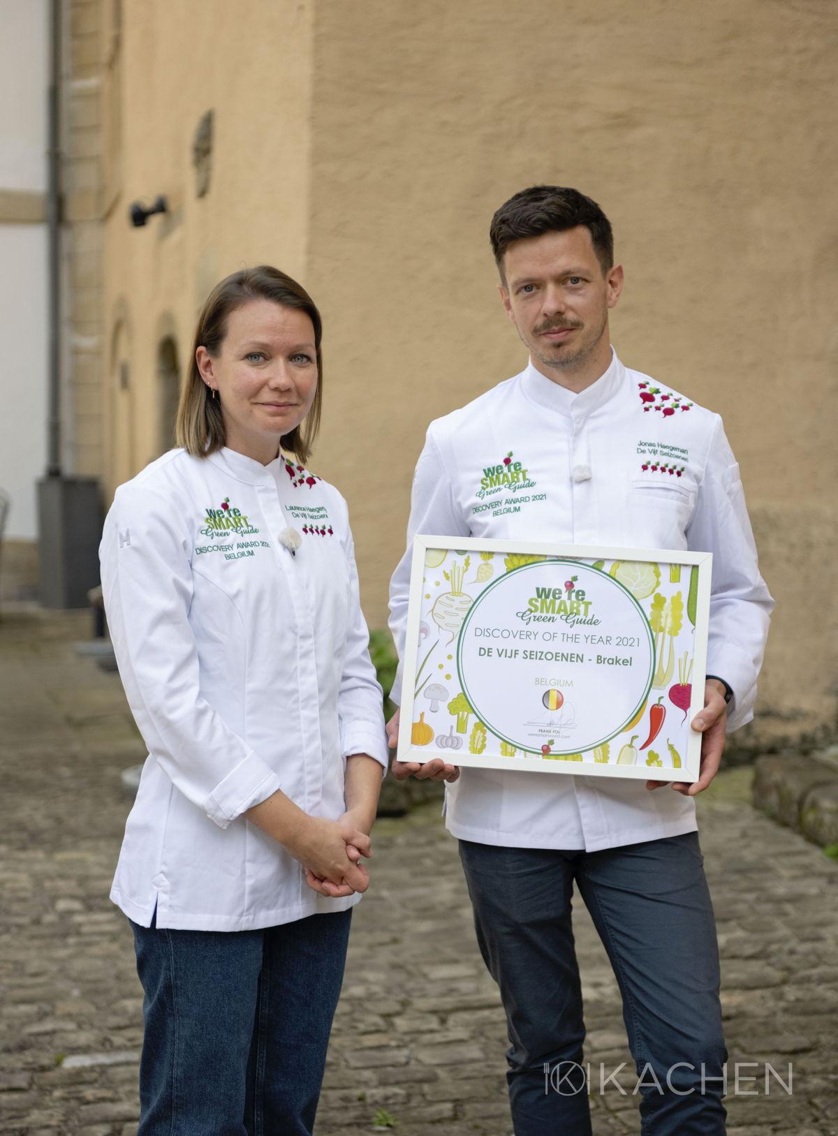 Chefs Laurence and Jonas Haegeman (De Vijf Seizoenen) - winners We