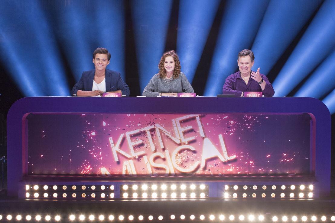 Ketnet Musical : Giovanni Kemper, Laura Tesoro en Koen Crucke - (c) VRT/Nathalie Dolman