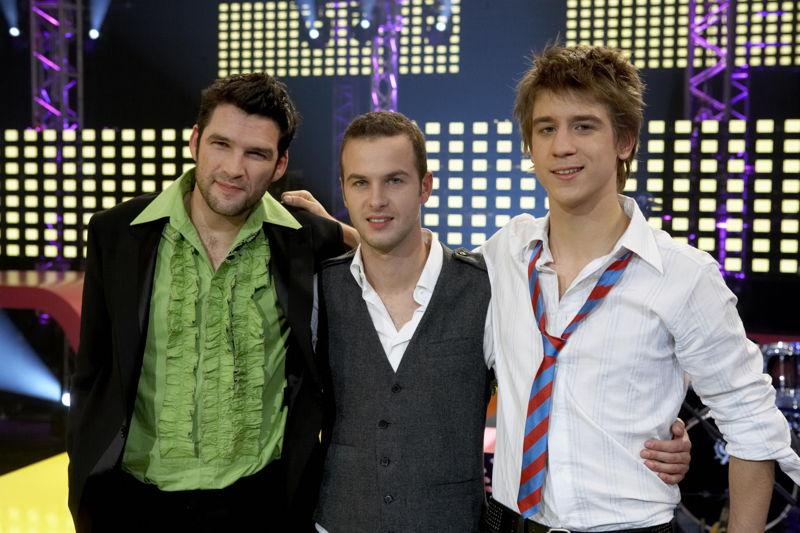 Roel Vanderstukken, Stan Van Samang en Timo Descamps tijdens Steracteur Sterartiest in 2006 - (c) VRT Bart Musschoot