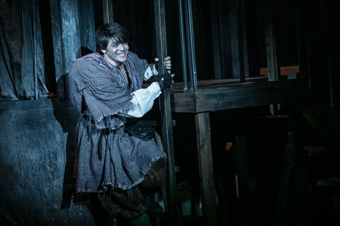 Haden Rider as Quasimodo in HUNCHBACK. Photo by Daniel Parvis.