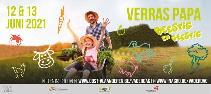 Oost- en West-Vlaamse land- en tuinbouwers verwennen papa's op Vaderdag