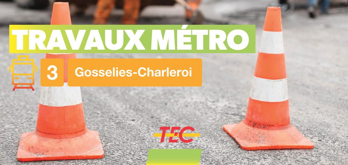 Métro de Charleroi - Travaux de revêtement