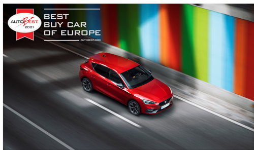 """Best Buy Car of Europe 2021"": the all-new SEAT Leon wins AUTOBEST 2021"
