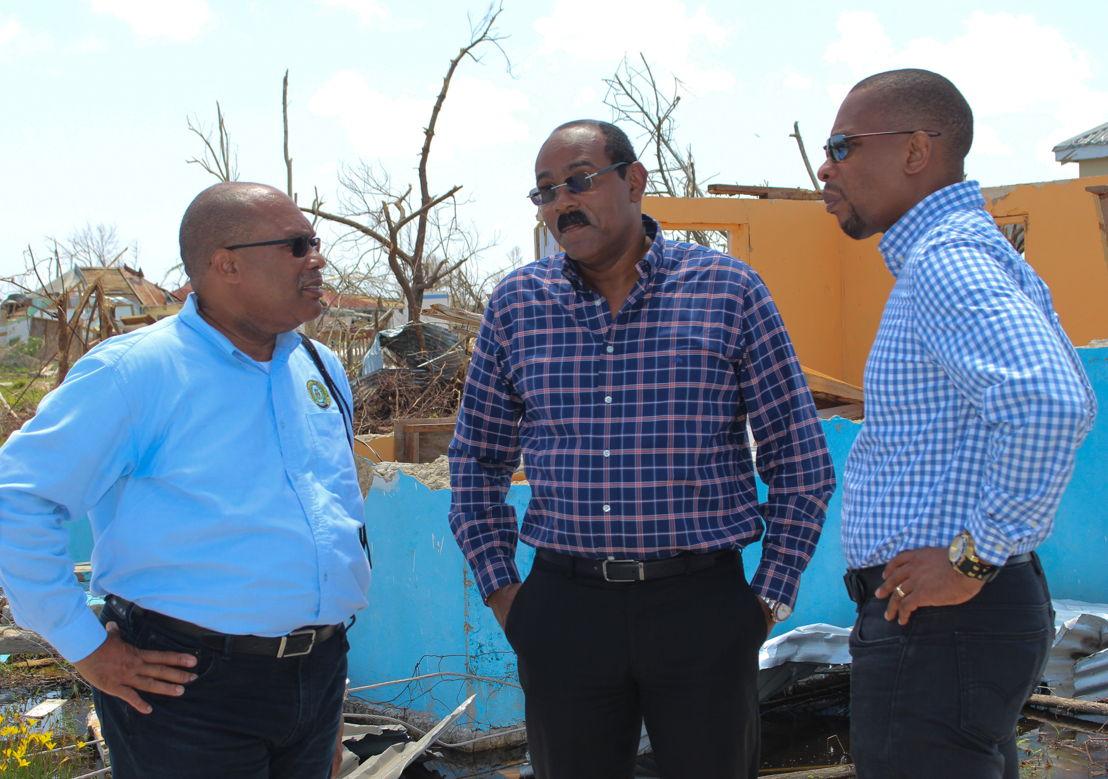 L-R: Governor, ECCB - Timothy N. J. Antoine; Hon Prime Minister and ECCB Council Member for Antigua and Barbuda, Gaston Browne; Deputy Governor, ECCB - Trevor Brathwaite