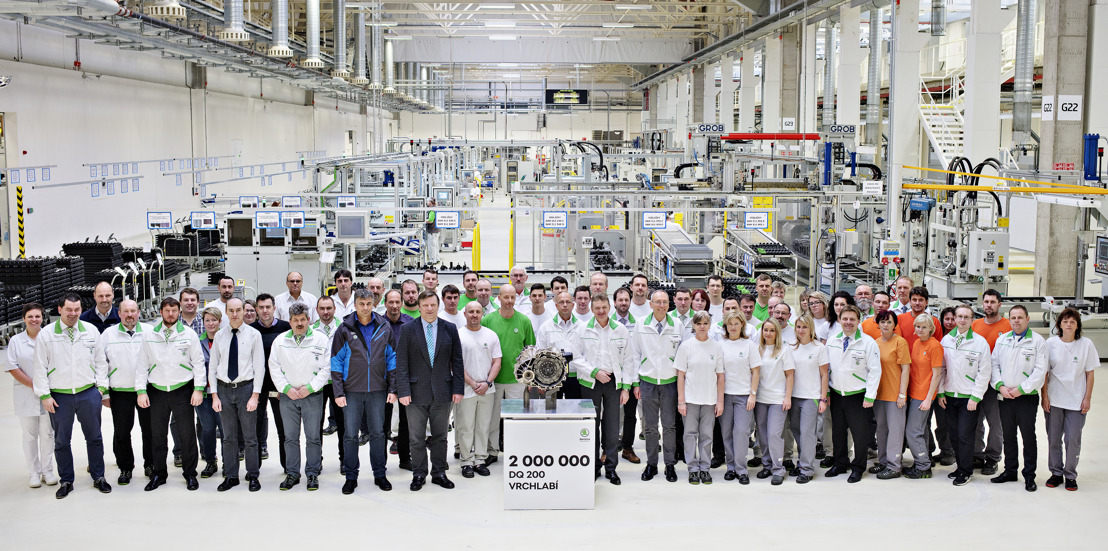 ŠKODA AUTO produces two-millionth DQ 200 dual-clutch transmission at Vrchlabí plant