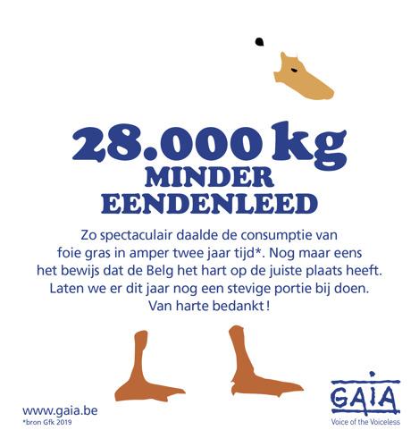 DALENDE TREND FOIE GRAS: BELG CONSUMEERT 28.000 KILO MINDER OP TWEE JAAR TIJD