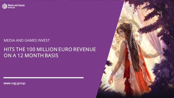 Preview: Media and Games Invest (MGI); knackt auf 12-Monats-Basis die 100-Millionen-Euro-Umsatz-Marke und wächst im 2. Quartal mit 97% ggü. Vorjahr