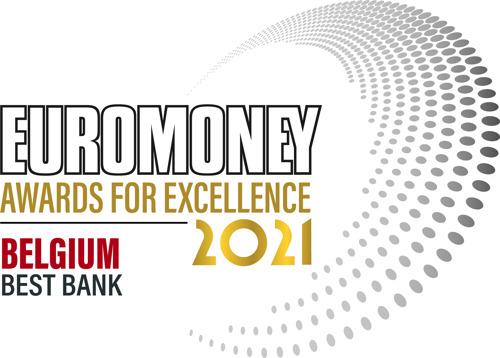 KBC wint voor het 6de jaar op rij Euromoney Awards for Excellence 2021 voor Best Bank in België.