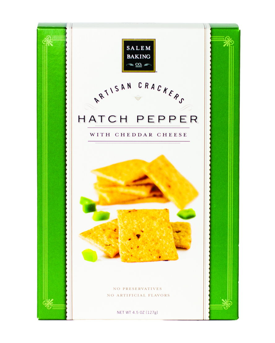 Salem Baking Hatch Pepper with Cheddar Cheese Artisan Crackers