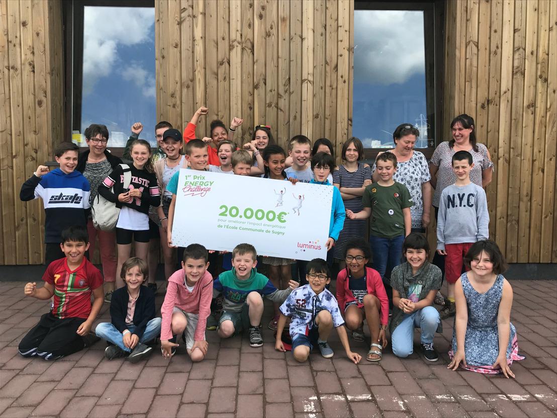 L'école communale primaire de Sugny remporte le Luminus Energy Challenge et reçoit 20 000 euros pour réduire son empreinte écologique