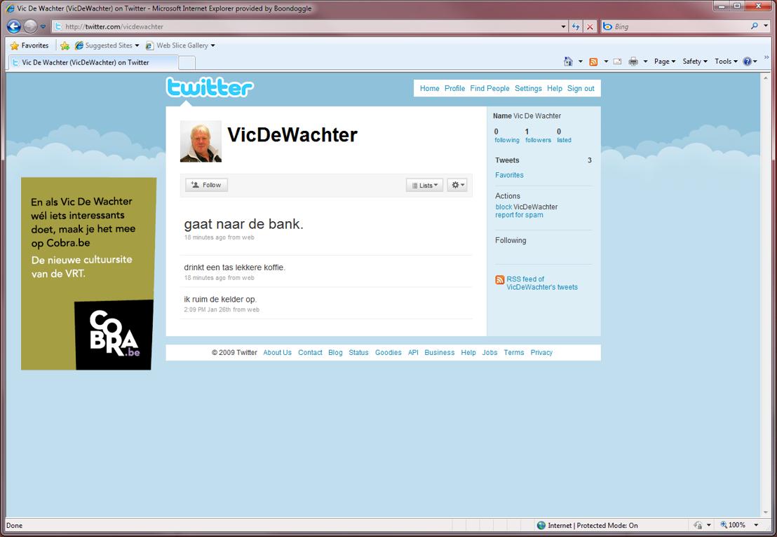 Online - Twitter - Vic De Wachter