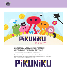 CRITICALLY-ACCLAIMED DYSTOPIAN ADVENTURE 'PIKUNIKU' OUT NOW