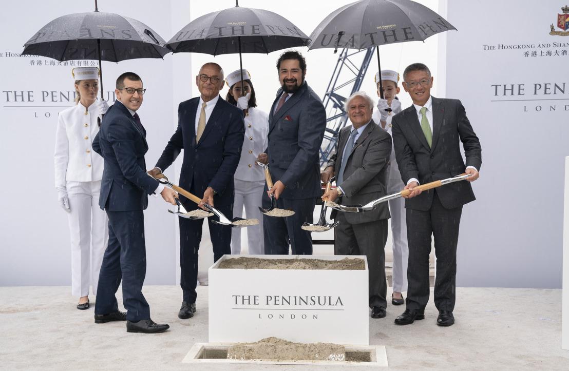 THE PENINSULA LONDON CELEBRA UN HITO IMPORTANTE, ACERCÁNDOSE A SU APERTURA PROGRAMADA PARA EL 2021