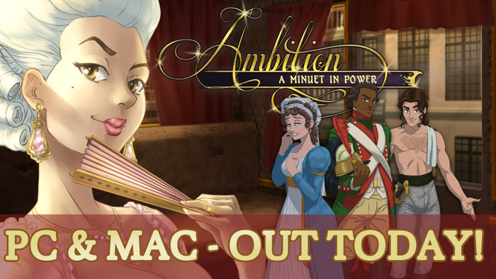 Out Today on PC! Rewrite French History in Ambition: A Minuet in Power