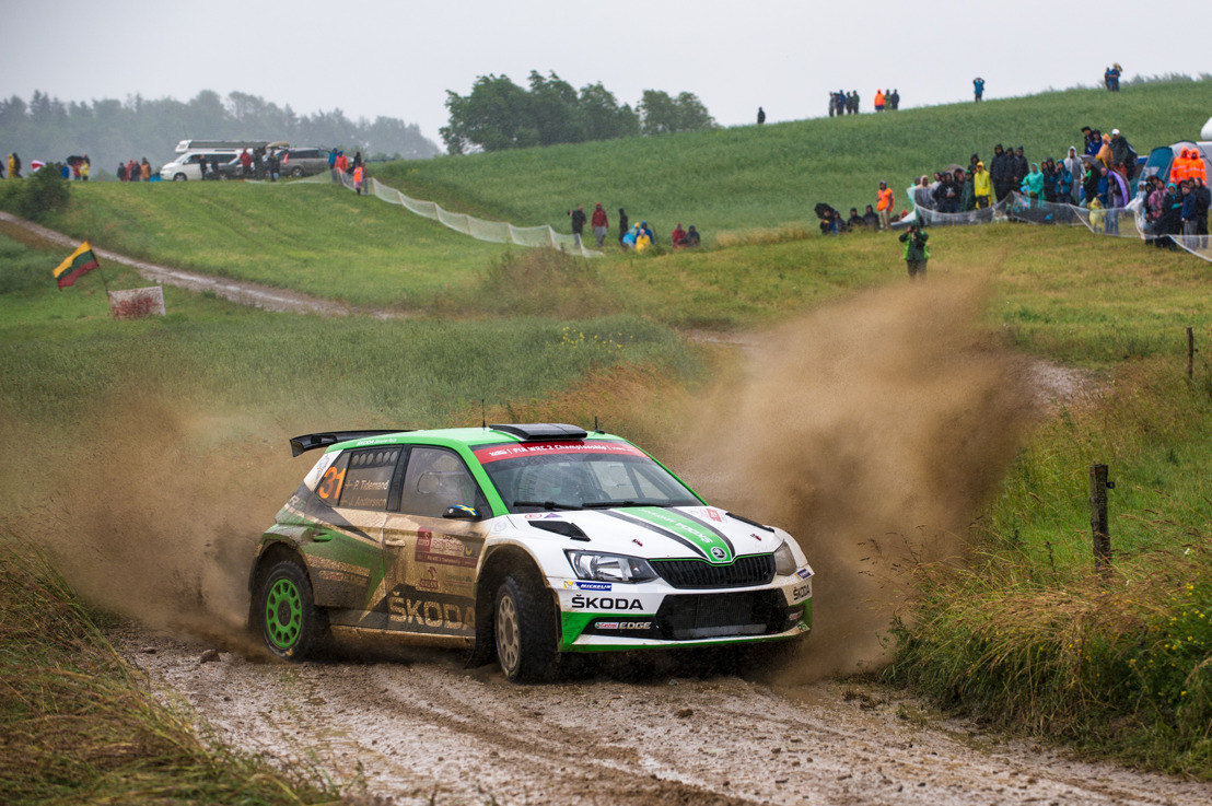 Three ŠKODA crews in WRC 2 at Wales Rally GB Veiby and Nordgren alongside champion Tidemand