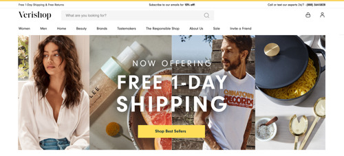 Verishop Introduces Free 1-Day Shipping