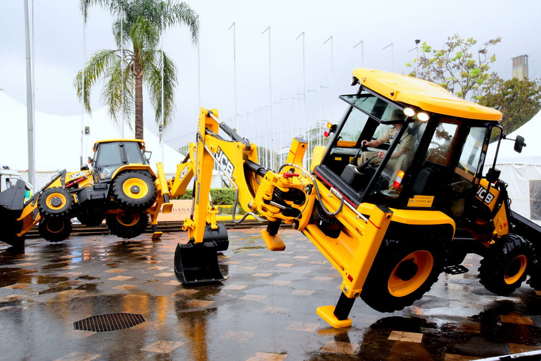 JCB diggers at The Big 5 Construct East Africa 2016
