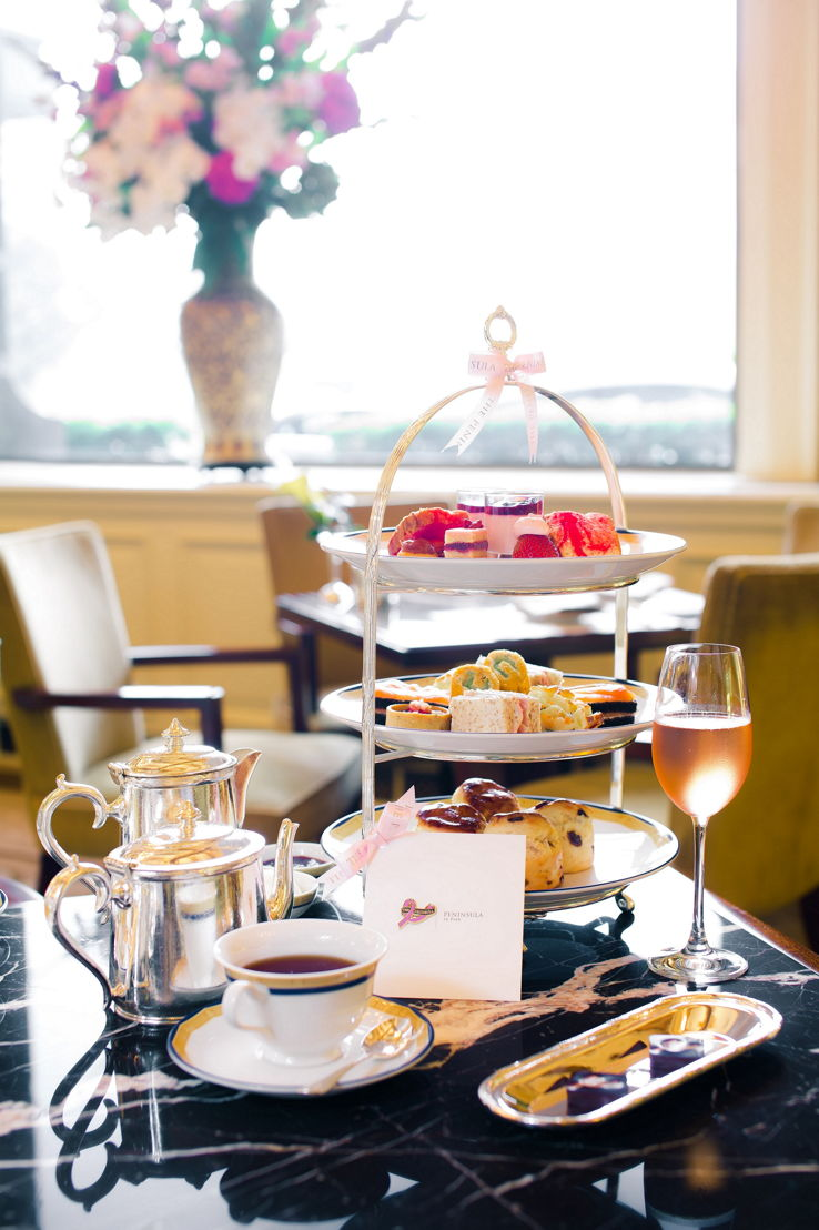 The Peninsula en Rose Afternoon Tea