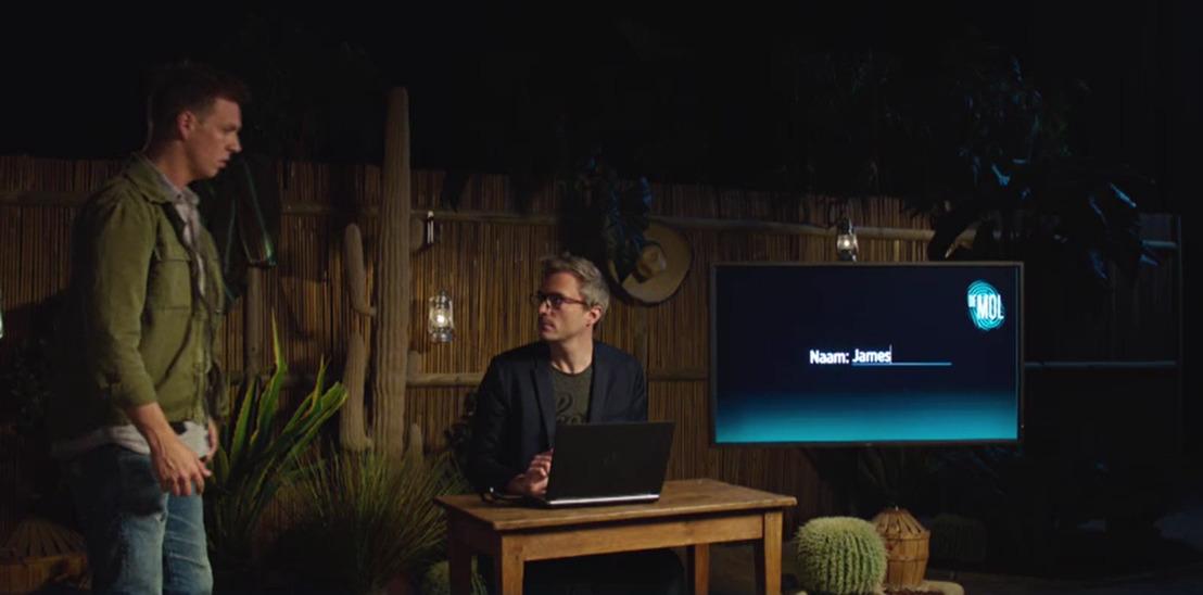 Groen scherm voor Gert en James.