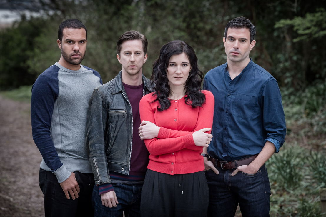 The Five - OT Fagbenle, Lee Ingleby, Sarah Solemani en Ben Blackal - (c) Sky 1