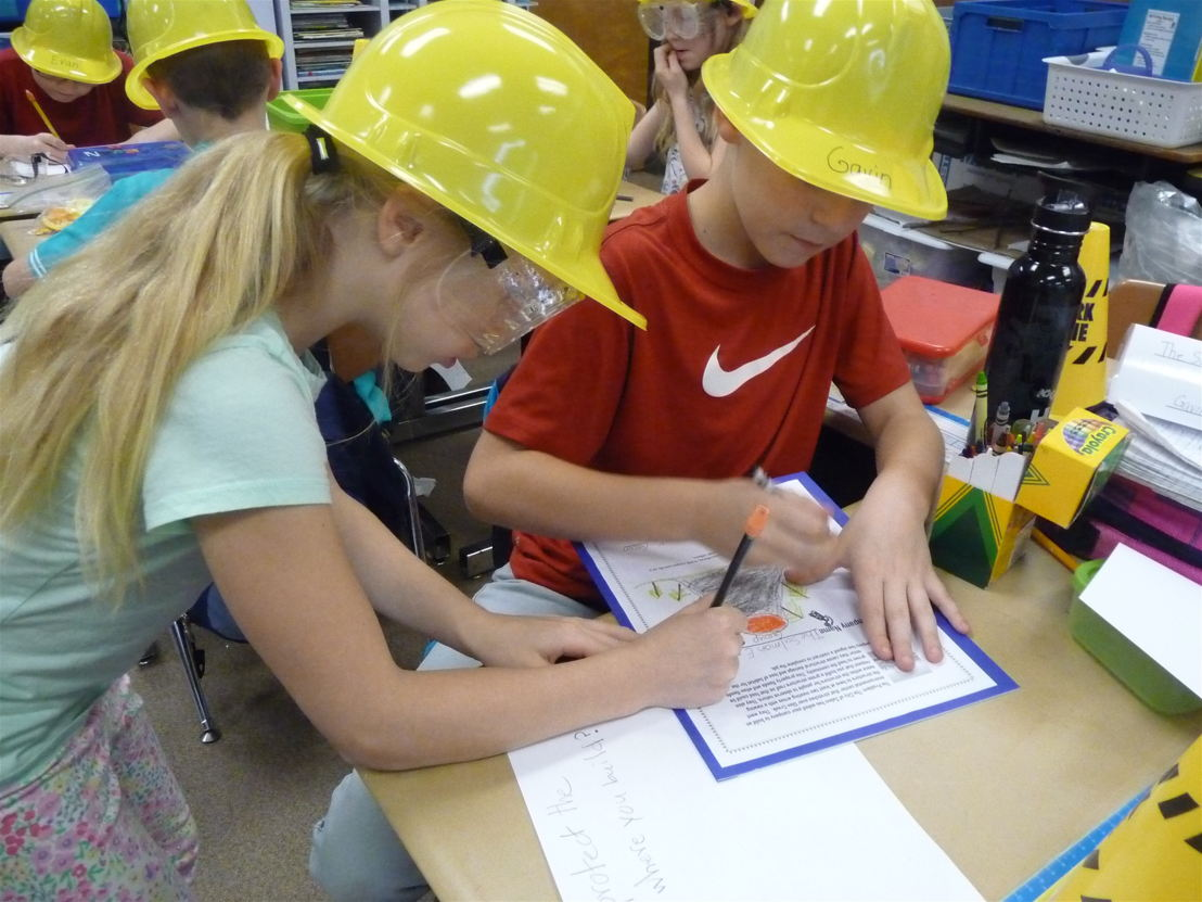 Students in Maureen Foelkl's third grade class at Chapman Hill Elementary School in Salem, Oregon designed solutions to flooding and erosion with help from professionals linked to their class through Oregon Connections.