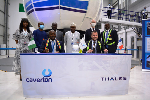 Caverton and Thales sign acceptance of Africa's first Level D helicopter full flight simulator