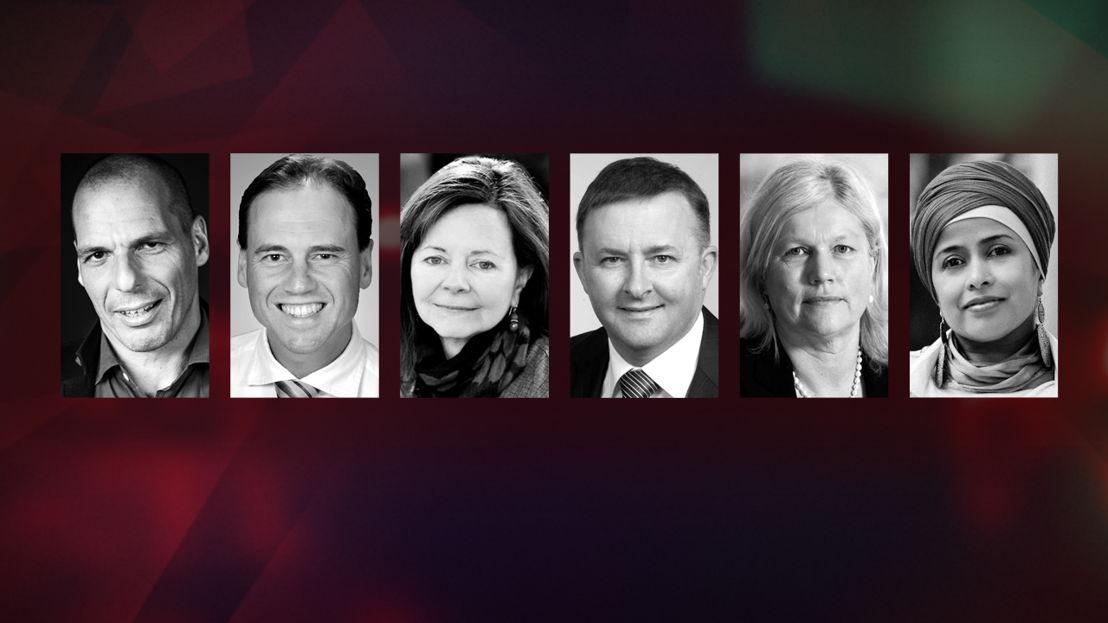 Yanis Varoufakis, Greg Hunt, Geraldine Brooks, Anthony Albanese, Judith Sloan & Tasneem Chopra