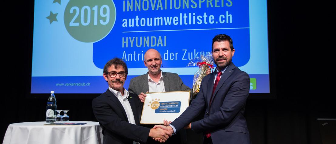 ATE, l'Association Transports et Environnement distingue Hyundai en lui remettant le Prix de l'Innovation 2019