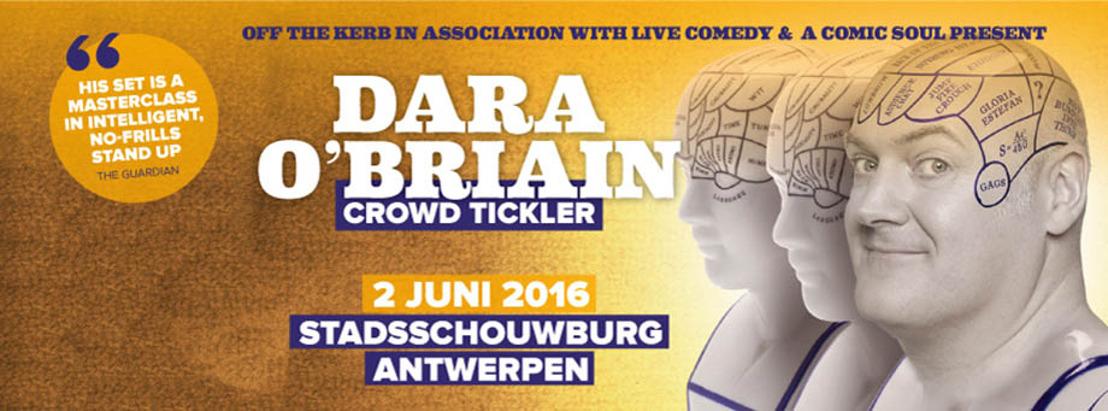 Bekende Britse comedian Dara O Briain komt naar België