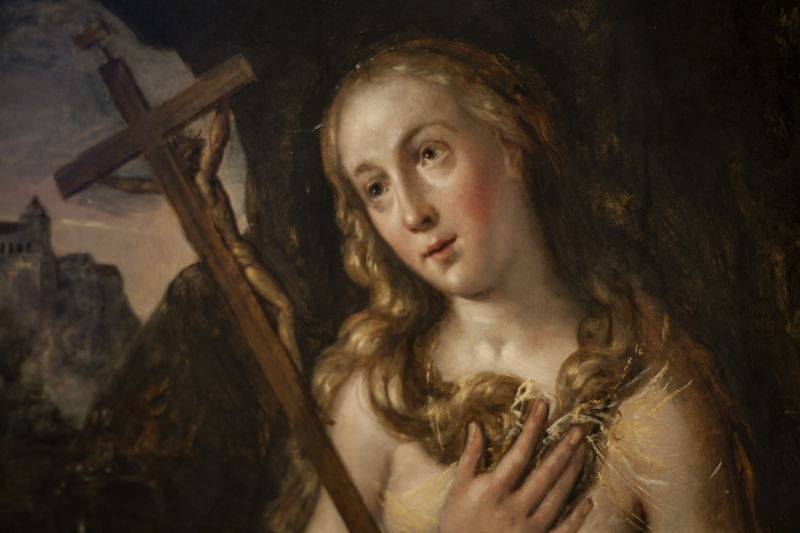 Maerten de Vos, Maria Magdalena (detail 2), particuliere verzameling, foto Ans Brys