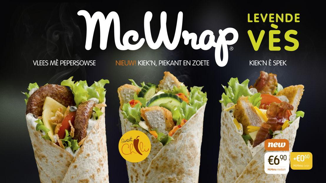 Digitaal menubord McWrap