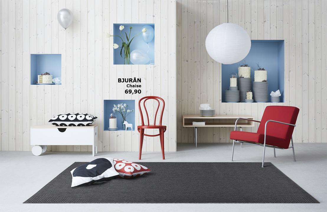 Le design minimaliste et scandinave des années 90 dans la collection IKEA GRATULERA