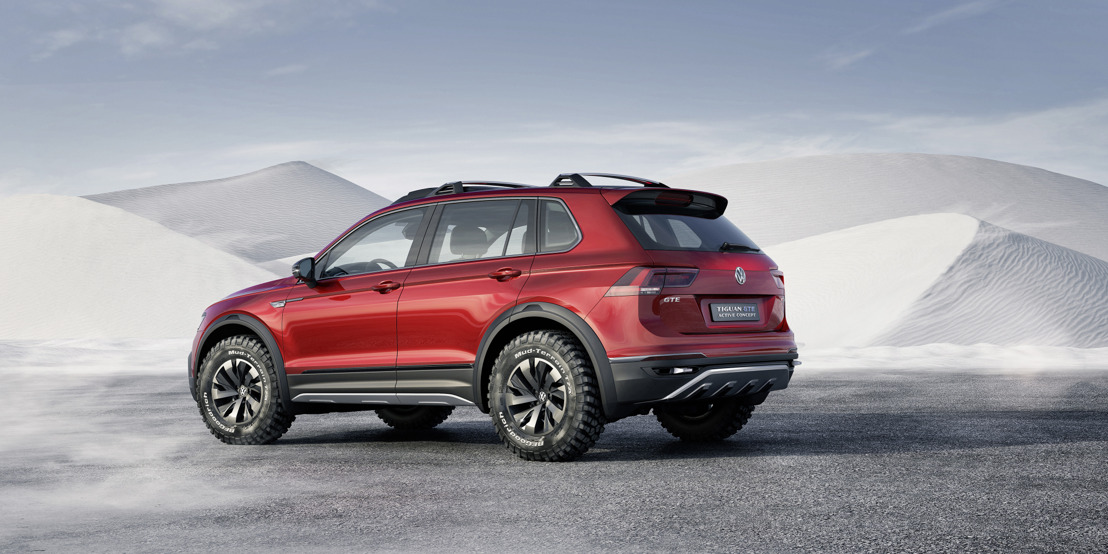 NAIAS 2016 - World premiere of the new Tiguan GTE Active Concept: Progressive plug-in hybrid drive with maximum off-road power