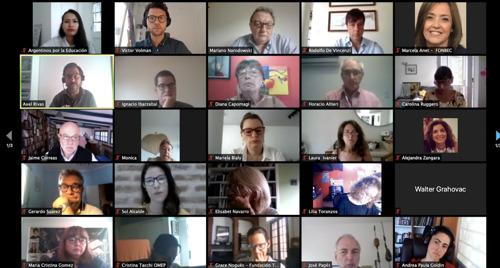 Consensos por la educación: referentes educativos debaten protocolos para la presencialidad