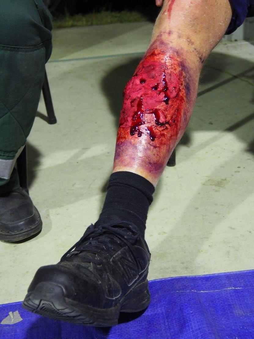 St John Ambulance fake wounds make-up artistry