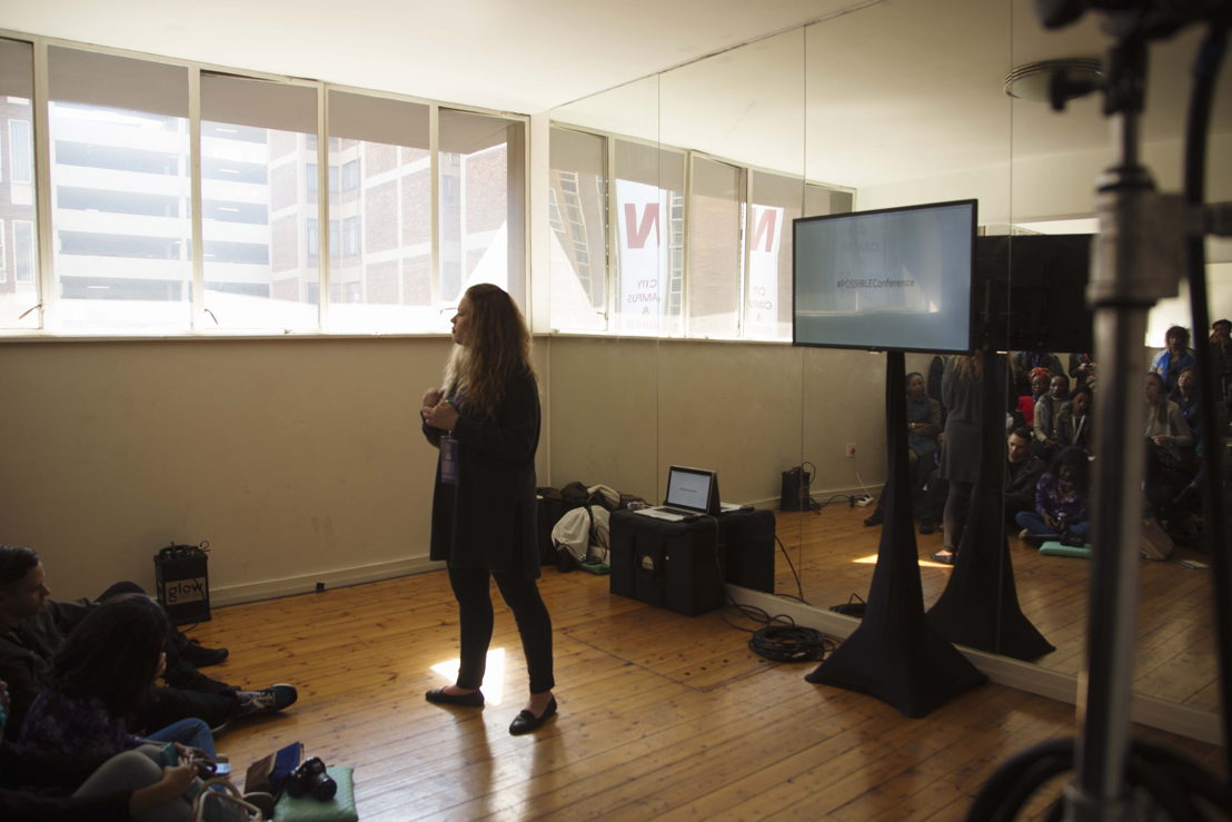 Bianca Theron leads one of the #POSSIBLEConference masterclasses.