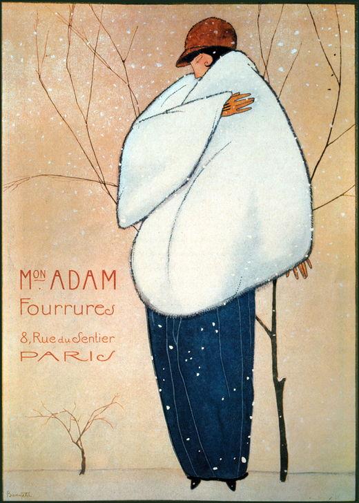 AKG4202681 Manteaux de fourrure de la Maison Adam, Paris / Publicité, 1925 (c) Fototeca Gilardi / akg-images