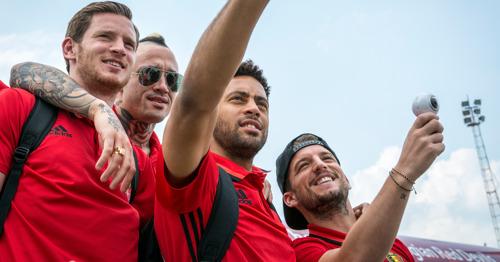 Rode Duivels vertrekken met Trident naar Bordeaux