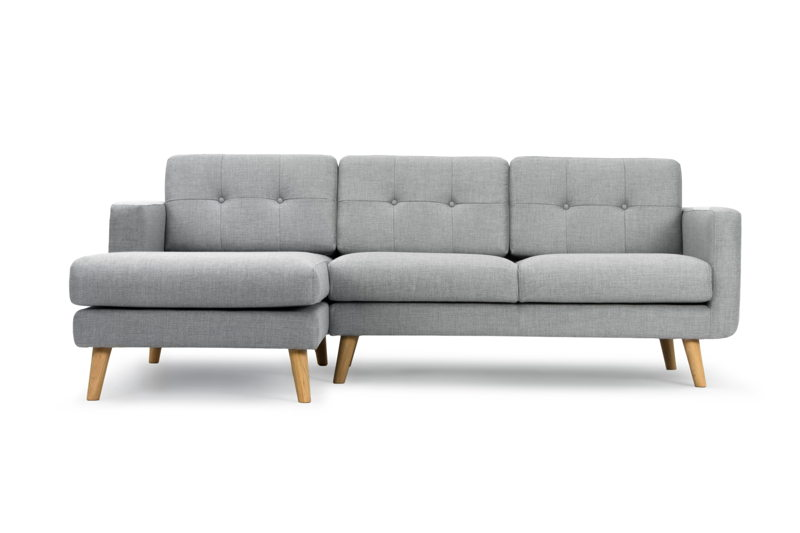 Conrad 3-seater with chaise longue right - Vendy Cool Grey