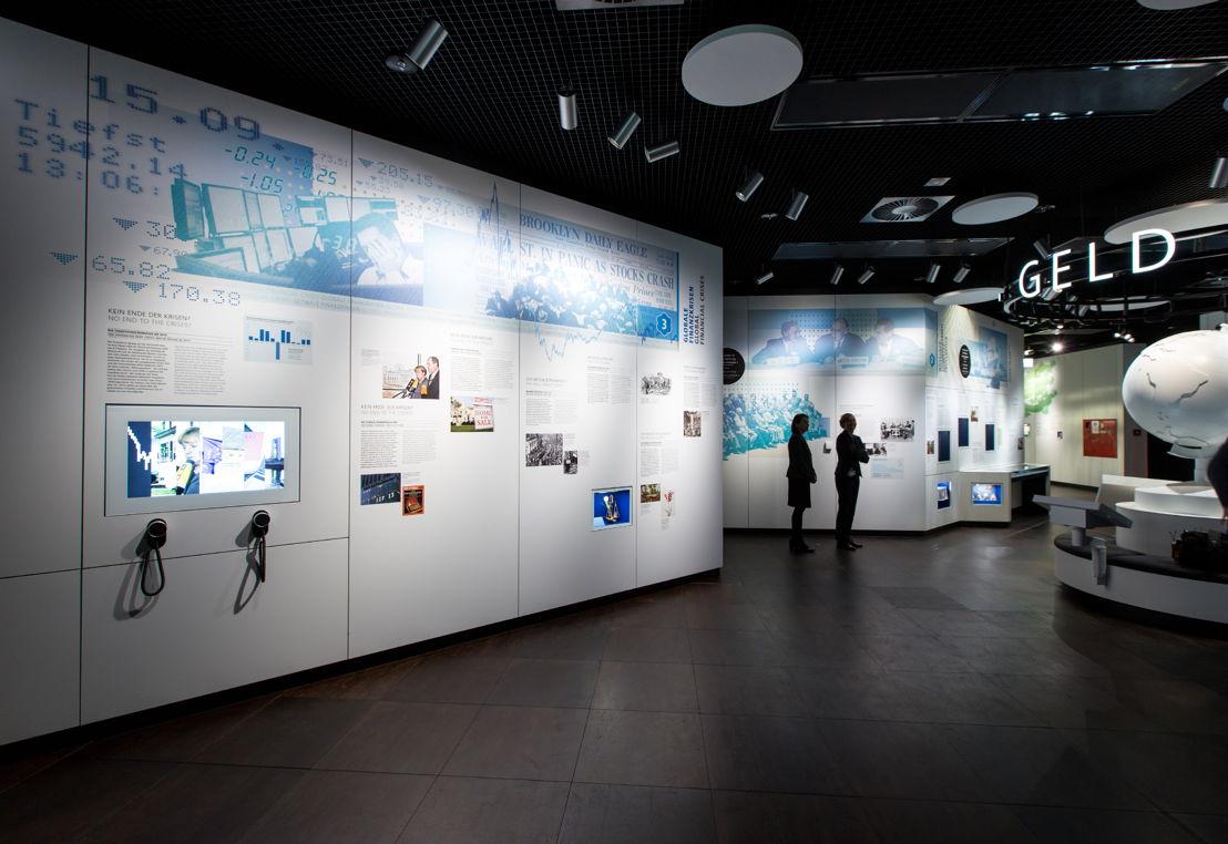 Eine besondere technische Herausforderung waren die verschiedenen Lautsprechersysteme des Geldmuseums.