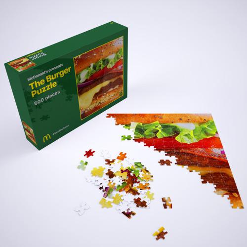 McDonald's® & TBWA Belgique lancent un Burger Puzzle pour occuper ses fans durant le confinement