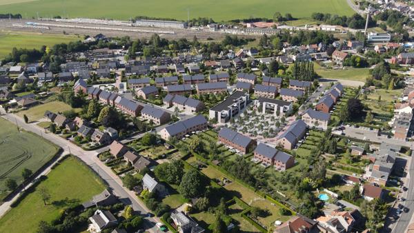 Preview: Liers : premiers coups de pioche pour les appartements du domaine Charles Martel